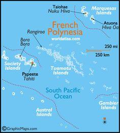 Französisch Polynesien Karte