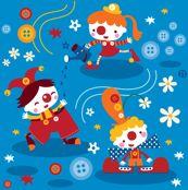 purchas fabric, clown