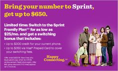 Sprint's Framily Plan for as little as $25 a month per line!  #SprintMom #MC #sponsored