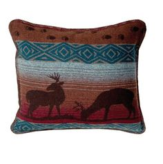 Deer Meadow 20 In. Square Accent Pillow