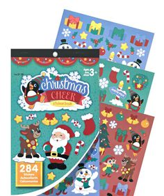 D04 // Darice sticker book Christmas Cheer by FoxyPlanner on Etsy
