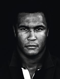 Thierry Dusautoir (1981) - French rugby union player. Photo © Marcel Hartmann