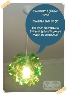 Lustre feito de PET! http://www.futurodopresente.com.br
