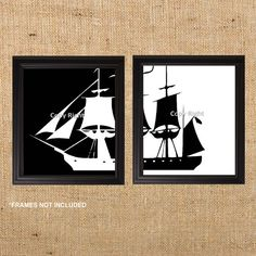 Home Decor Art Prints of a Ship 8x10 set of by SIMPLEHOMELIVING, $28.00