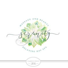 Hand-painted succulent watercolor logo design. Dudleya succulent This is a premade watercolor logo and is a quick and easy way to get a beautiful and professional looking brand identity. Perfect for anything you can come up with! This premade logo will be modified with your Spa Branding, Branding Design, Logo Design, Business Logo, Business Card Design, Spa Logo, Watercolor Succulents, Tree Logos, Watercolor Logo