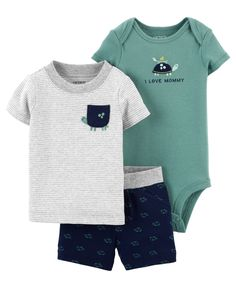 Toddler Outfits, Baby Boy Outfits, Kids Outfits, Body Suit With Shorts, Carters Baby Boys, Diaper Bag Backpack, Baby Socks, Baby Boy Fashion, Romper