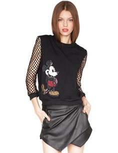 Sequin mickey top