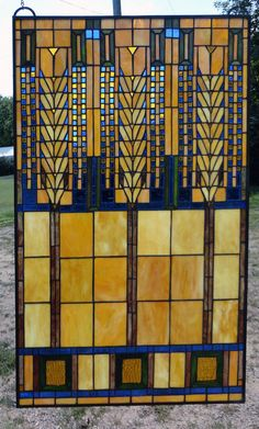 Arts and Crafts Style Stained Glass Stained Glass Quilt, Stained Glass Designs, Stained Glass Panels, Stained Glass Patterns, Art And Craft Design, Art Deco Design, Tiffany Glass, Quilted Wall Hangings, Mosaic Glass