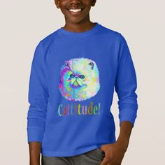 Colorful Cat with Catitude T-Shirt