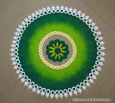 Rangoli Ki Design, Easy Rangoli Designs Diwali, Rangoli Designs Latest, Rangoli Designs Flower, Free Hand Rangoli Design, Small Rangoli Design, Rangoli Ideas, Rangoli Designs With Dots, Flower Rangoli