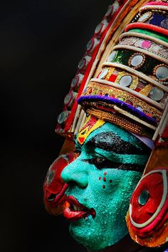 A face in the crowd Kerala India by Anoop Negi by carter flynn
