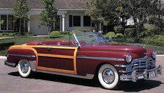 1949 chrysler town and country - sex on wheels. need it in my life.  I'll just have to settle for the 1999 town and country. oh what a difference 50 years made.