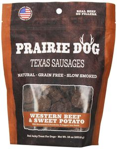 Prairie Dog Pet Products Texas Sausages, 16 oz., Western Beef and Sweet Potato >>> Find out more details by clicking the image : Dog Treats