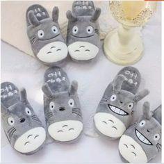 Couples cartoon totoro indoor slippers from Fashion Kawaii [Japan & Korea] Kawaii Cat, Kawaii Anime, Studio Ghibli, Totoro Nursery, My Neighbor Totoro, Couple Cartoon, Cat Paws, Fabric Material, Shoe Boots