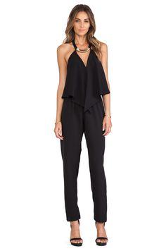 T-Bags LosAngeles Halter Jumpsuit in Black