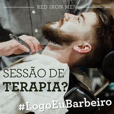 Quem nunca, não é mesmo, além de fazer barba, cabelo e bigode, ainda faz uma sessão grátis de terapia com direito a chororô, desabafo e até conselho? #logoeubarbeiro #redironmen #barbershop #barbeariabrasil #Barbershopconnect #reidoconselho #ombroamigo