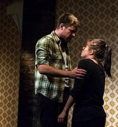 """""""Aalst"""" actors Lizzie Gapper and Timmy Knowles attempt to use volume to express their characters' brutality."""