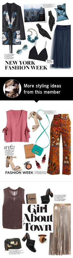 """""""nyfw"""" by punnky on Polyvore featuring Anya Hindmarch, Post-It, Moo Piyasombatkul, Lanvin and Haute Hippie"""