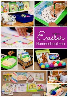 If you're having trouble coming up with some fun Easter lessons and activities for your kiddos, check out these simple ideas from Carisa over at 1+1+1=1. They require little in the way of supplies...