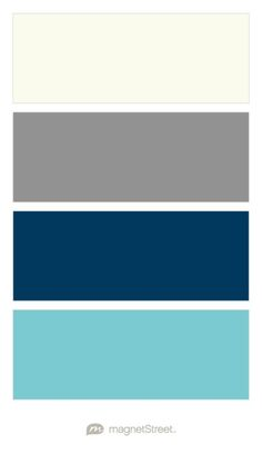 Ivory, Custom Gray, Navy, and Turquoise Wedding Color Palette - custom color palette created at MagnetStreet.com