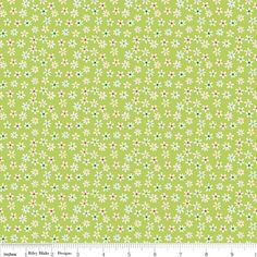 LAMINATED cotton fabric - Green flower yardage - My Sunshine by Zoe Pearn Art & Design (aka oilcloth, coated vinyl slicker fabric)