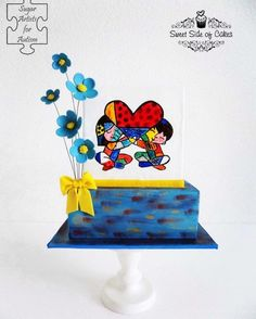 Love & Joy (Romero Britto inspired) - collaboration - Cake by Sweet Side of Cakes by Khamphet Food Artists, Just Bake, Painted Cakes, Sugar Craft, Cupcake Cookies, Cupcakes, Edible Art, Autism Awareness, Themed Cakes