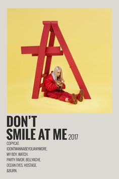 Billie Eilish don't smile at me 2017 Alternative Minimalist Polaroid Poster Room Posters, Poster Wall, Poster Prints, Poster Layout, Poster Poster, Minimalist Music, Minimalist Poster, Poster Minimalista, Music Collage