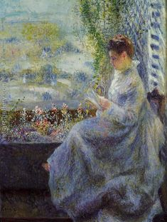 Madame Chocquet Reading Artwork By Pierre Auguste Renoir Oil Painting & Art Prints On Canvas For Sale Pierre Auguste Renoir, Pierre Bonnard, Paul Cezanne, Manet, Claude Monet, August Renoir, Renoir Paintings, Oil Paintings, Art Gallery