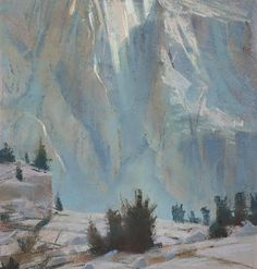 Bill Cone: The Wall to the West, pastel