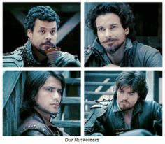 Our Musketeers <3 Howard Charles, Santiago Cabrera, Luca Pasqualino & Tom Burke <3
