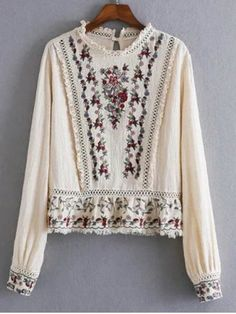 GET $50 NOW | Join RoseGal: Get YOUR $50 NOW!http://www.rosegal.com/blouses/openwork-floral-embroidered-fringed-blouse-672914.html?seid=6595733rg672914