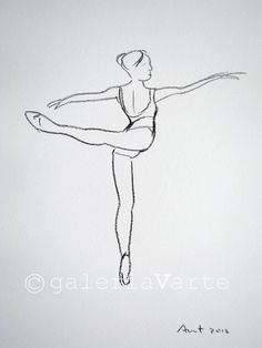 Charcoal drawing  ballet dancer  original  by galeriaVarte on Etsy, $40.00