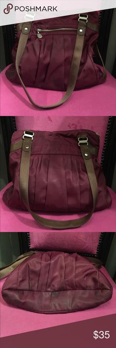 Baggallini Bag (Eggplant Color) Well loved Bag - lightweight holds everything! Measures 15x3x12! Baggallini Bags Shoulder Bags