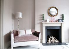 decoration home inspiration  Faux Fireplace Finesse