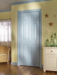 6 Panel Hollow Core Textured Door  The Standard Style In Our Homes  Also  Available