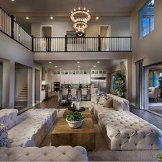 "38k Likes, 365 Comments - Interior Design & Home Decor (@inspire_me_home_decor) on Instagram: ""Ugh those tufted sectionals you guys!!! I'm looking for similar ones for my basement! By…"""