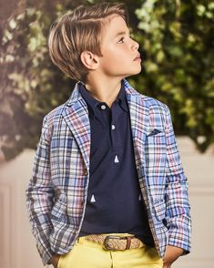 Sunshine, celebrations, and the perfect plaid. Shop link in bio. Boy Haircuts Long, Cool Boys Haircuts, Baby Boy Hairstyles, Toddler Boy Haircuts, Little Boy Haircuts, Boys Longer Haircuts, Long Hairstyles For Boys, Kids Cuts, Boy Cuts