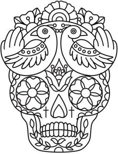 day of the dead coloring pages dogs | ... click sugar skull ... - Sugar Candy Skulls Coloring Pages