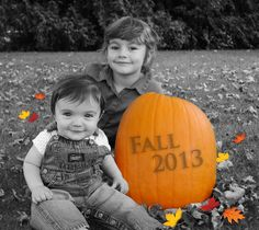 Fall photoshoot idea for kids