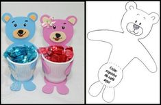 Bilderesultat for Cíntia Alves 79 Kids Crafts, Craft Stick Crafts, Easter Crafts, Craft Gifts, Diy And Crafts, Arts And Crafts, Teddy Bear Party, Diy Ostern, Mothers Day Crafts