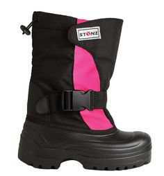 Winter Bootz - Pink/Black stonzwear.com open wide to fit over AFOs?