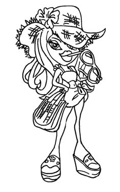 Bratz Of Glasses Are Coloring Page For Kids