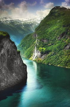 The Seven Sisters Waterfall, Geiranger Norway