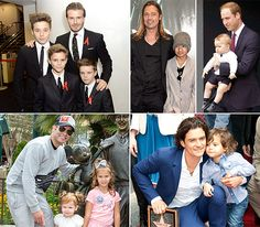 dads and their kids   Celebrity Dads Bond With Their Kids: Adorable Pictures