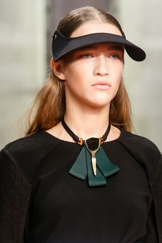 Marni Spring 2014 Ready-to-Wear Collection Slideshow on Style.com.  Love the visor and necklace.