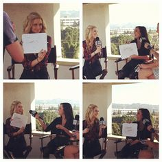 Megan and Liz at Hollywire