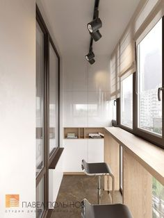 Foto: Loggia Design - Interieur im modernen Stil - Interior Balcony, Apartment Balcony Decorating, Interior Design Living Room, Interior Decorating, Small Balcony Design, Small Apartments, Flat Design, Home Furniture, Modern