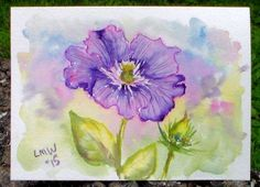 Let's Paint a Clematis in Watercolor!