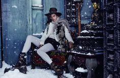 Alessandra Ambrosio by Dennis Leupold for Harper's Bazaar Kazakhstan December/January 2016
