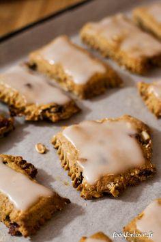 Biscuits au Muesli et à la Chataigne, Glaçage au Citron